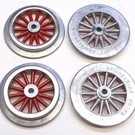 Model Engineering Works AW1000-3 AF Wide Gauge Electric Loco Wheel Set, Red, 3 Sets