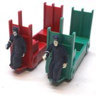 Poward Plastics 356-35L 10 Sets, Baggage Cart Set, Red & Green