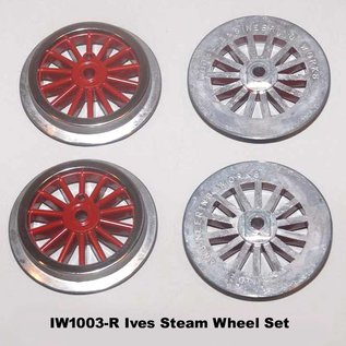 Model Engineering Works IW1003-R Ives Steam Std Gauge Red Wheel Set, 4Pcs
