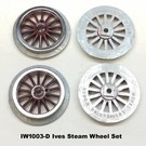 Model Engineering Works IW1003-D Ives Steam Std Gauge Dark Red Wheel Set, 4Pcs