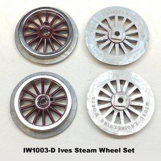 Model Engineering Works IW1003-D Ives Steam Std Gauge Dark Red Wheel Set, 4Pcs
