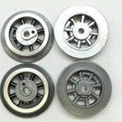 Model Engineering Works 261E-WB, Wheel Set for 261, 262 Loco, Black Spoke, 4 Pcs