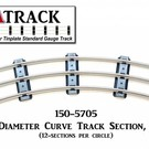 "USA Track LLC 150-5705 57"" Diameter Curve Track, 5-ties, USA"