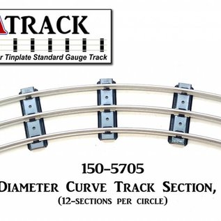 "USA Track LLC 150-5705 57"" Diameter Curve Track, 5-ties, USA"