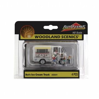 Woodland Scenics AS5541 Ike's Ice Cream Truch, HO Scale