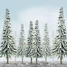 "JTT 92007 Scenic Snow PIne, 4""-6"" Tall, 24-pack"