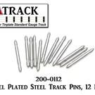 USA Track LLC 200-0112 Nickel Plated Steel Track Pins, 12 Pcs.