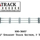"USA Track LLC 100-3607 36"" Straight Track Section, 7-ties, USA"