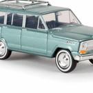 brekina 19853 1967 Jeep Wagoneer, Met. Green, HO Scale