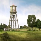 Woodland Scenics BR4954 Rustic Water Tower, N Scale
