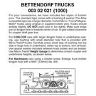 Micro-Trains 1000 Bettendorf Trucks, N Scale, 1 Pair