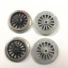 Model Engineering Works IW1003-B Ives Steam Std Gauge Black Wheel Set, 4Pcs