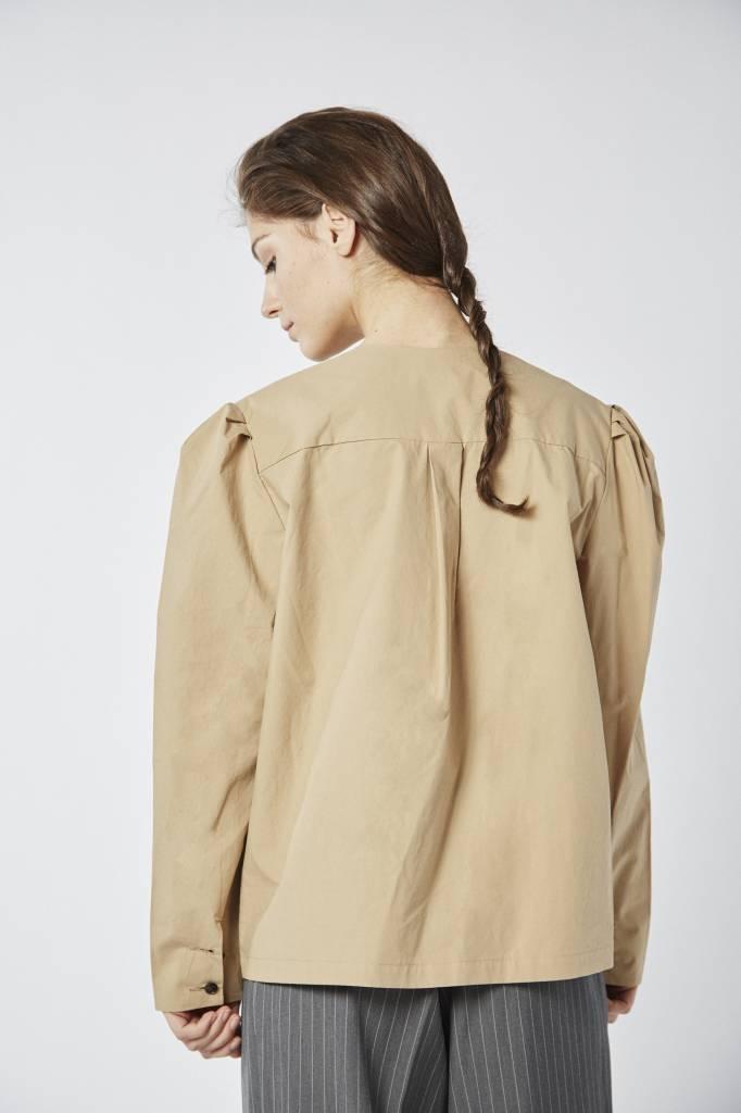 Avenue Khaki Buttoned Down Cotton Shirt