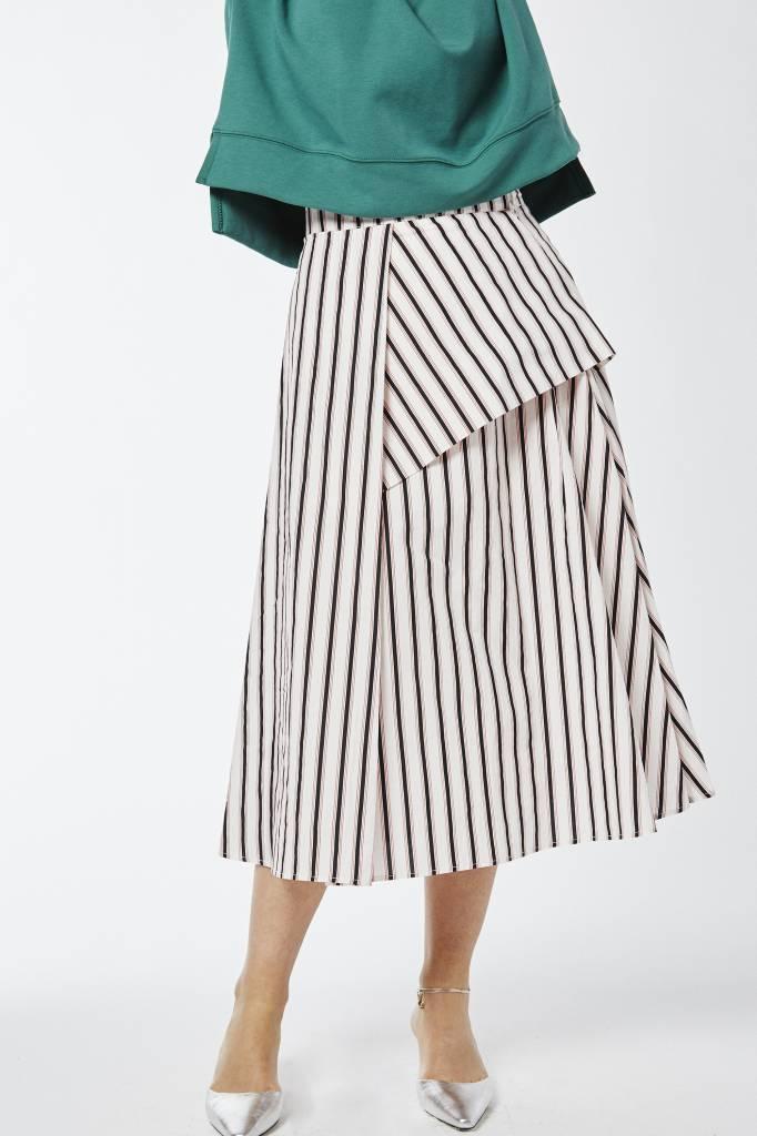 Erica Asymmetrical Striped Wrap Skirt