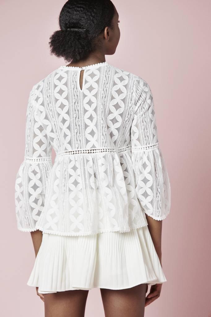 Erica Pleated Mini White Shorts