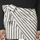 Erica Striped Mini Wrap Skirt