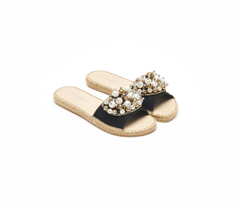 ViaVela ViaVela14 Embellished Pearl Sandals