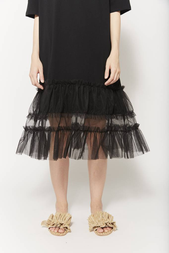 d.r concept Ruffle Trimmed Tulle Dress
