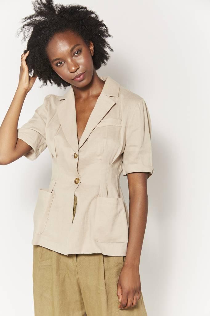 Coline Short Sleeved Linen Jacket
