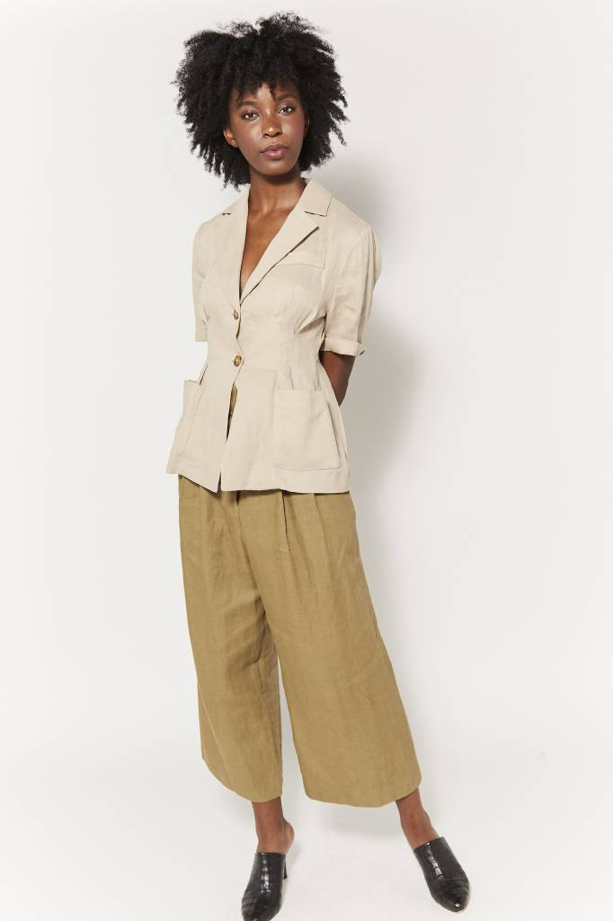Coline Short Sleeved Linen Jacket