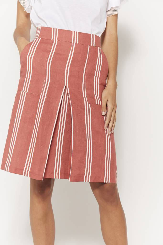 Erica Striped Mini Skirt
