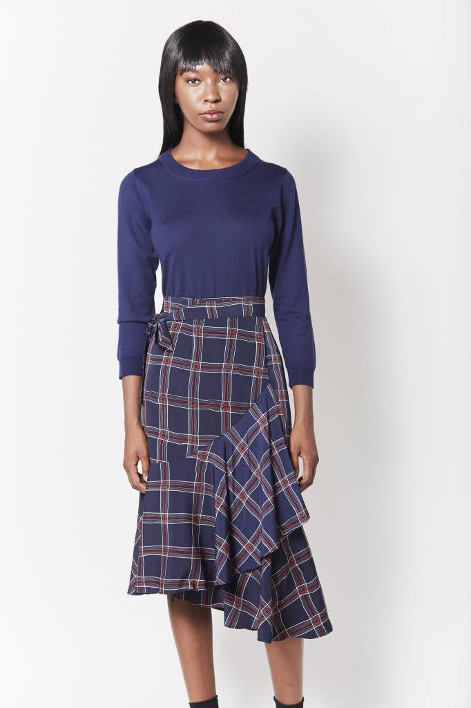 Erica Plaid Wrap Skirt