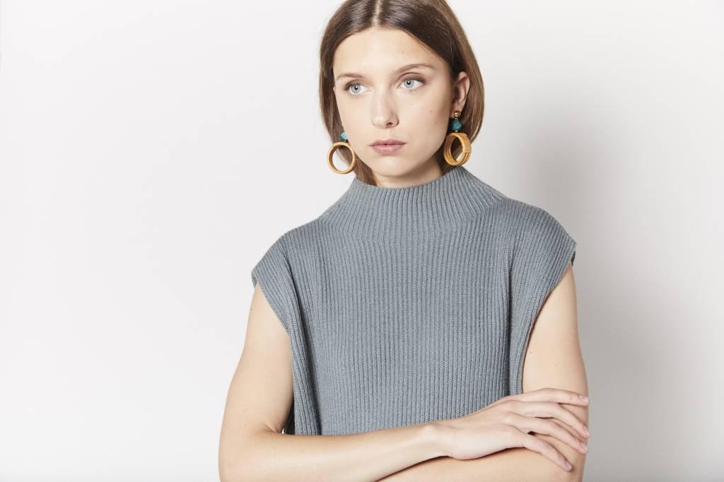 FAV Side Tie Green Sweater