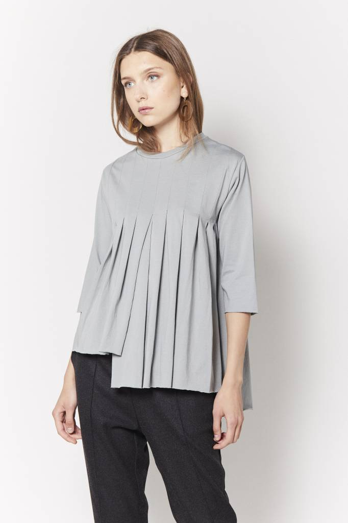 Vegas Pleated Asymmetrical Top