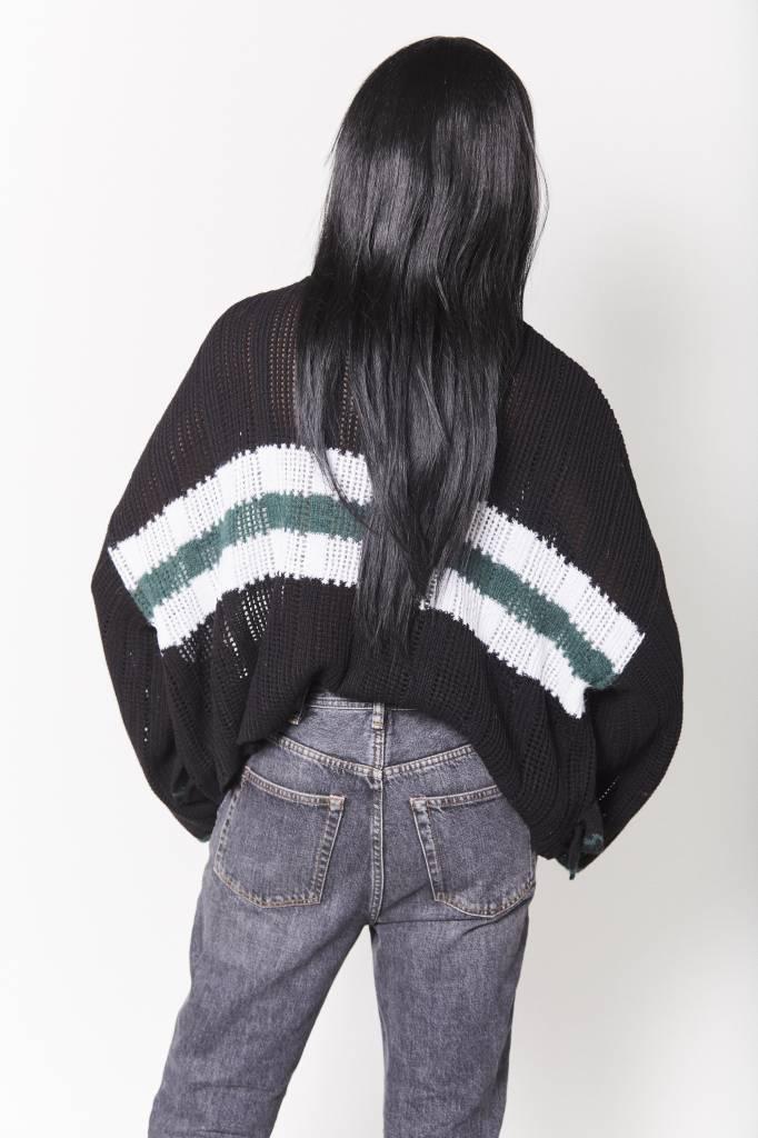 Element Ruffled Asymmetrical Sweater