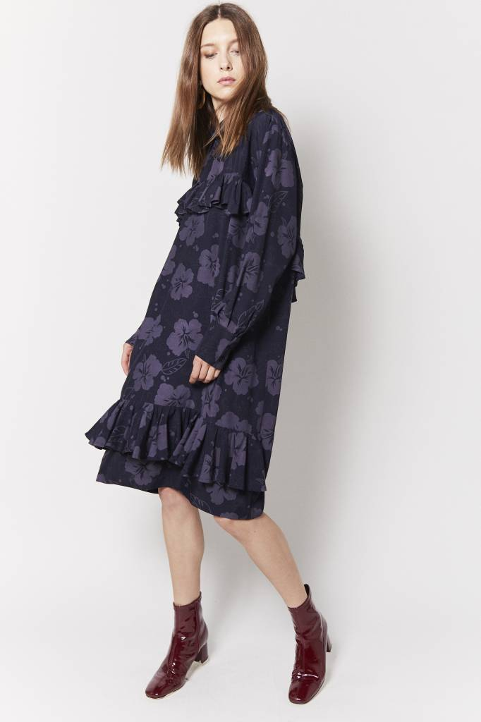 Scott Gibson Scott Gibson Ruffled Print Dress