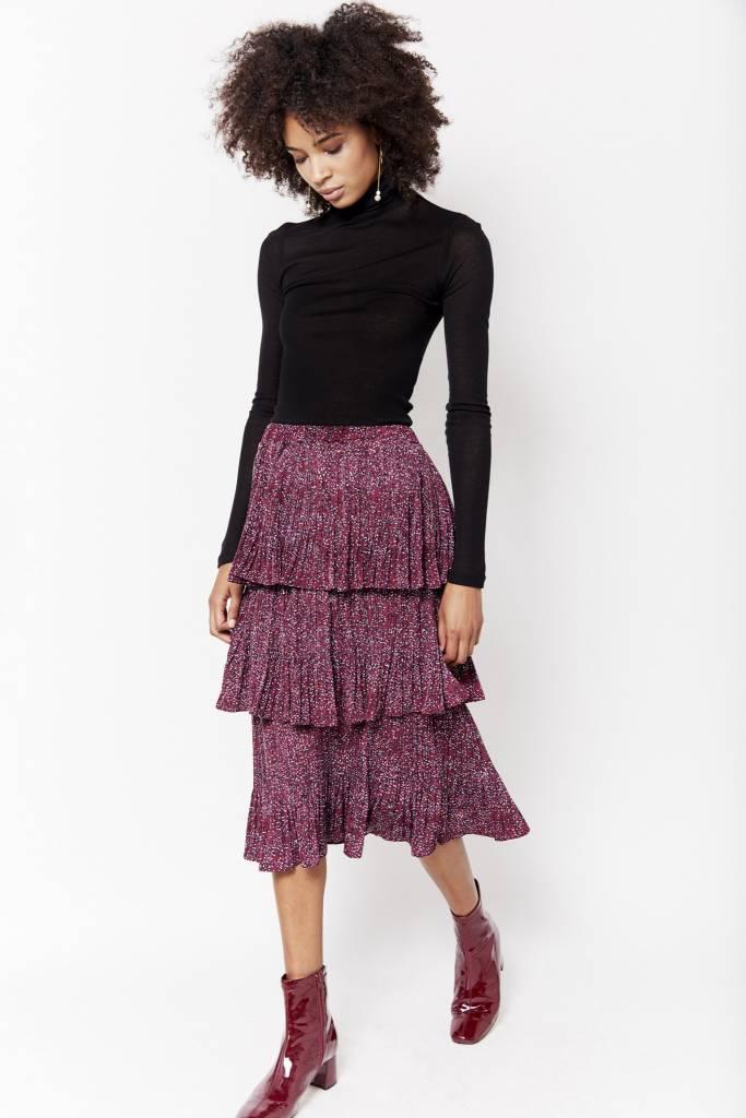 Erica Anna Ruffled Wine Skirt
