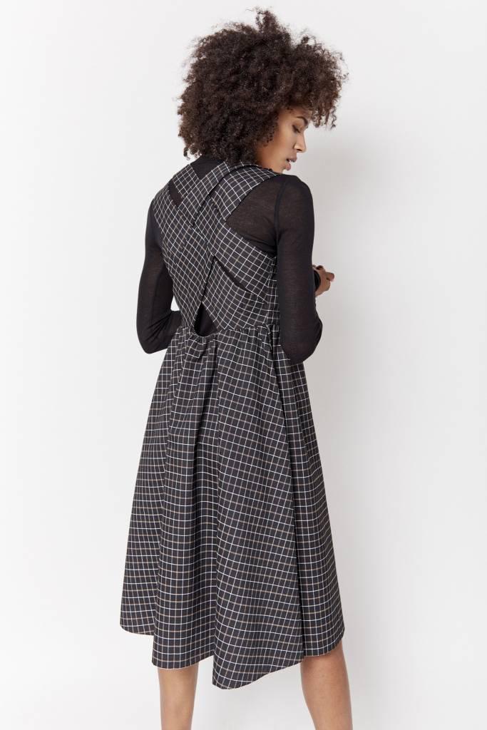 Mini Dress Checked Black Dress