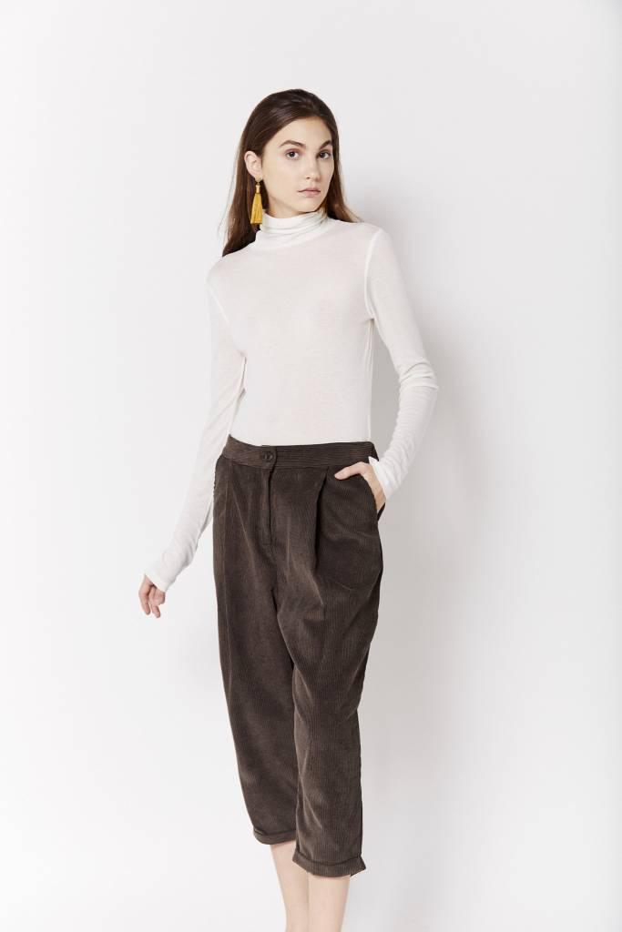 d.r concept Cropped Corduroy Brown Pant