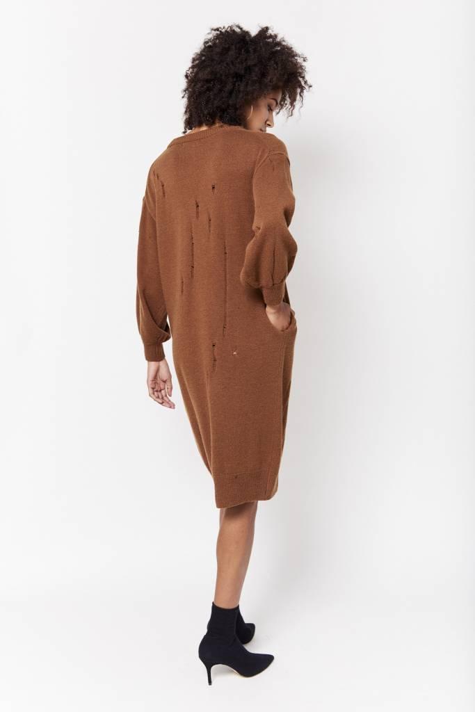 d.r concept Distressed Knit Dress