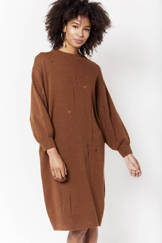 d.r concept Distressed Knit Dress