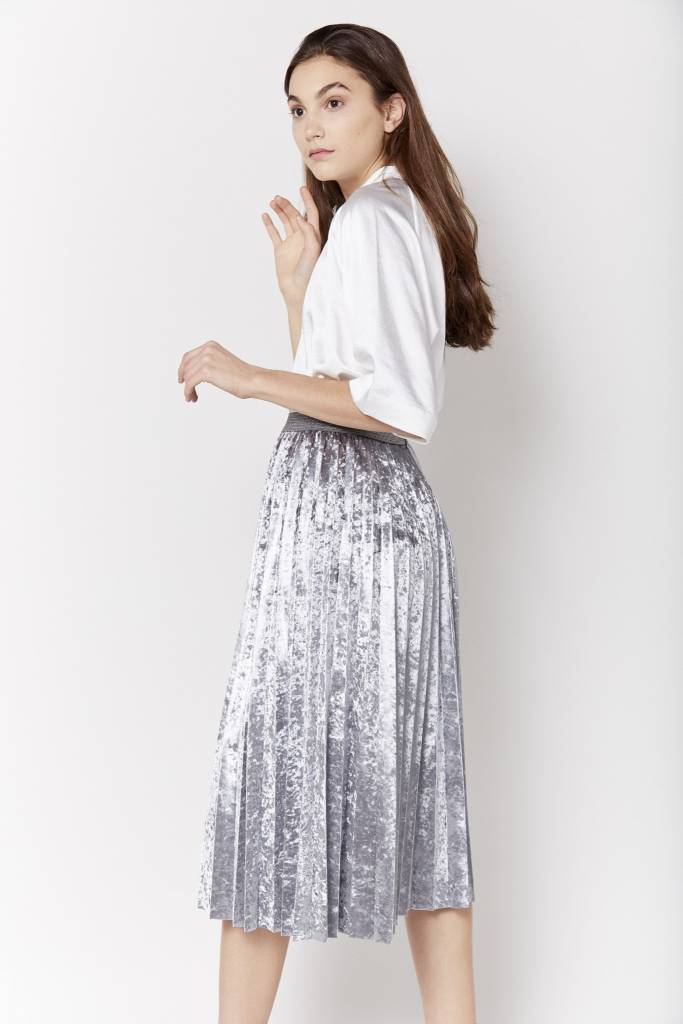 New York Story Giovanna Pleated Skirt