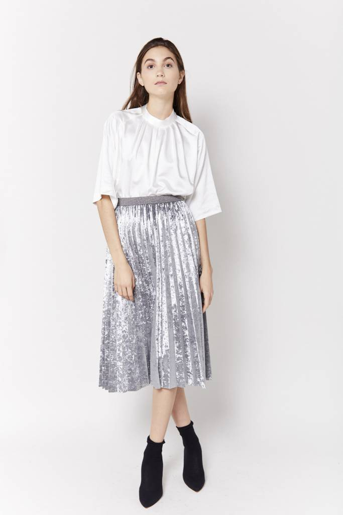 New York Story Giovanna Pleated Skirt