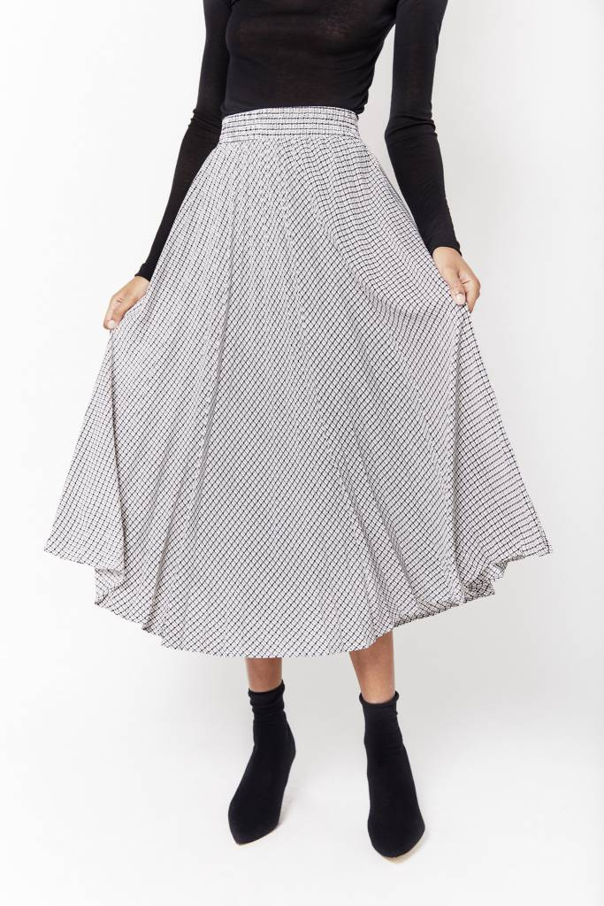 Erica Graphic Pleated Skirt
