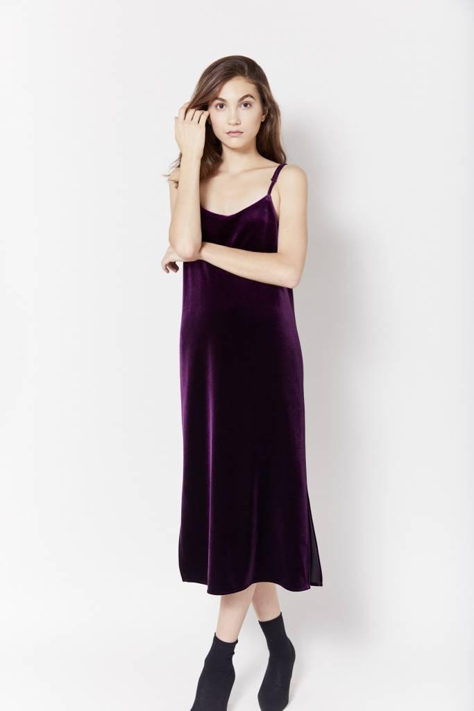 New York Story Tracy Purple Velvet Dress