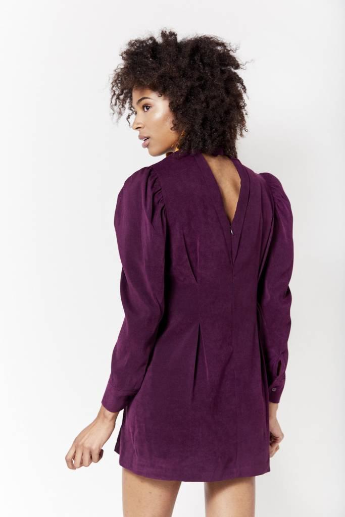 New York Story Velvet Purple Mini Dress