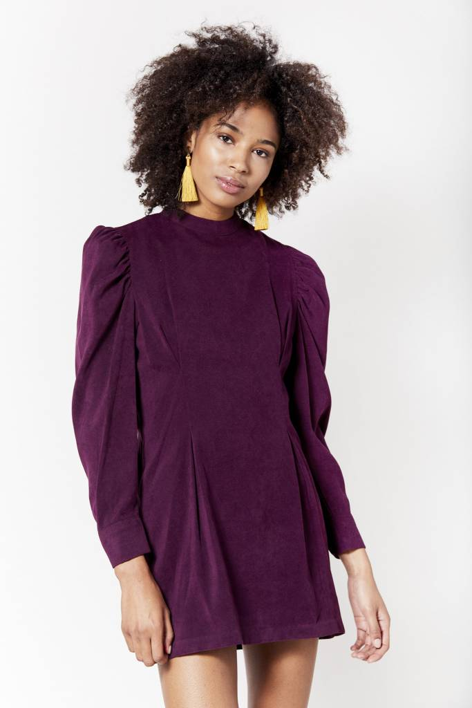 New York Story Velvet Purple Mini Dress