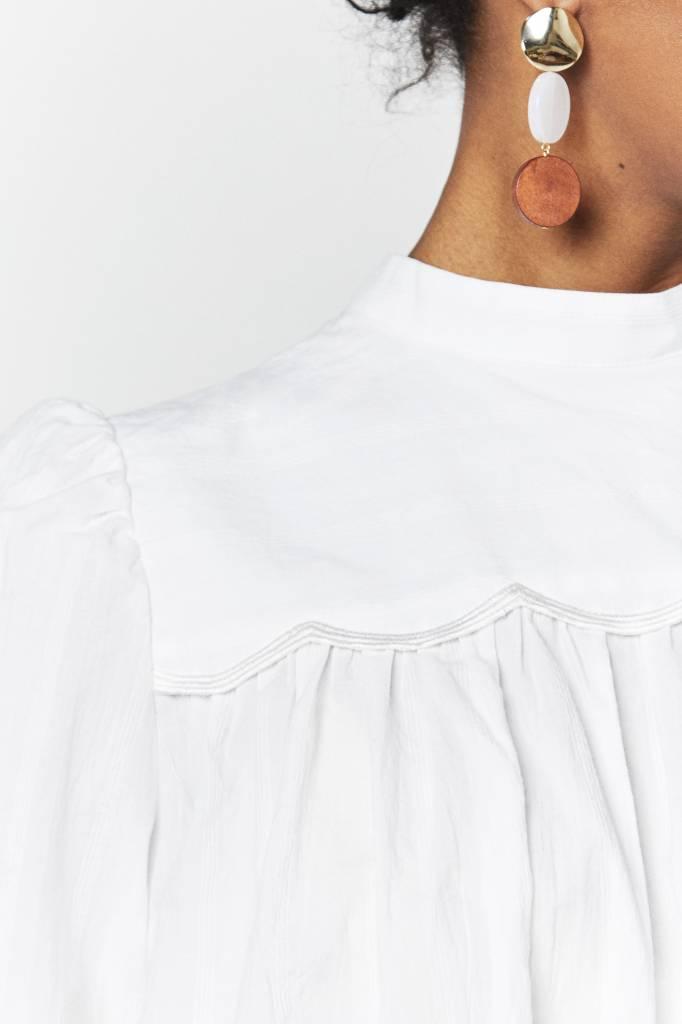 FAV Broderie White Blouse