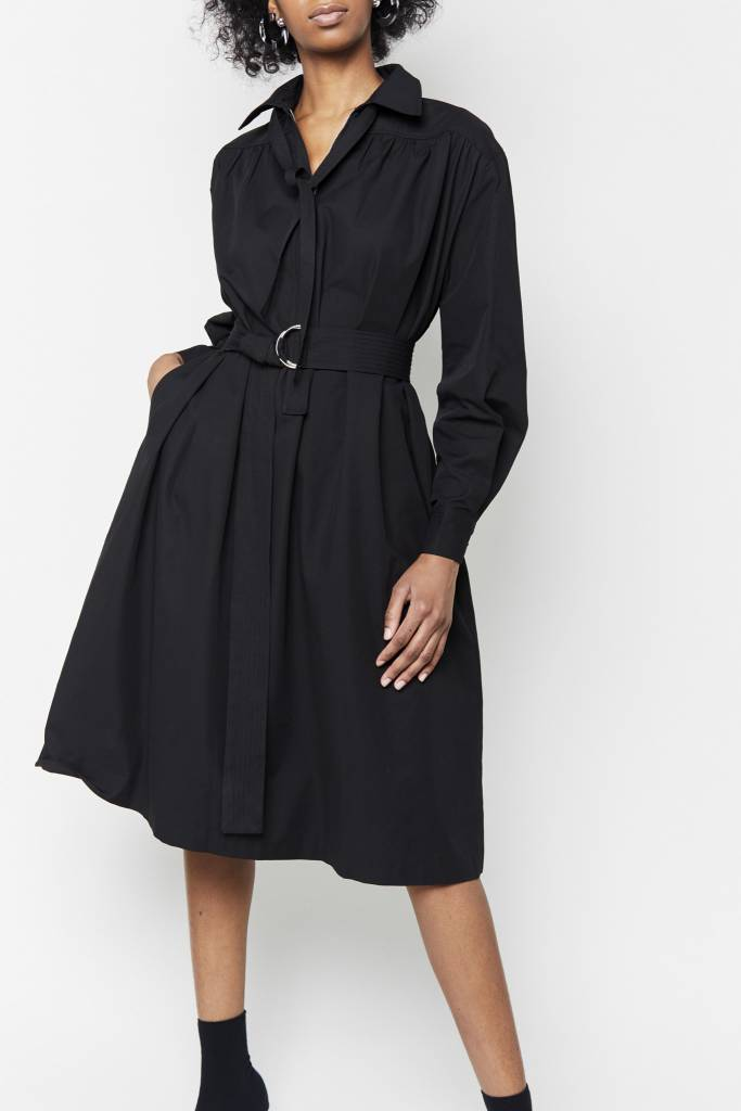 FAV Effortless Black Belted Dress
