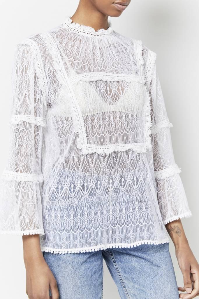 Corner 302 Gilda White Lace Top