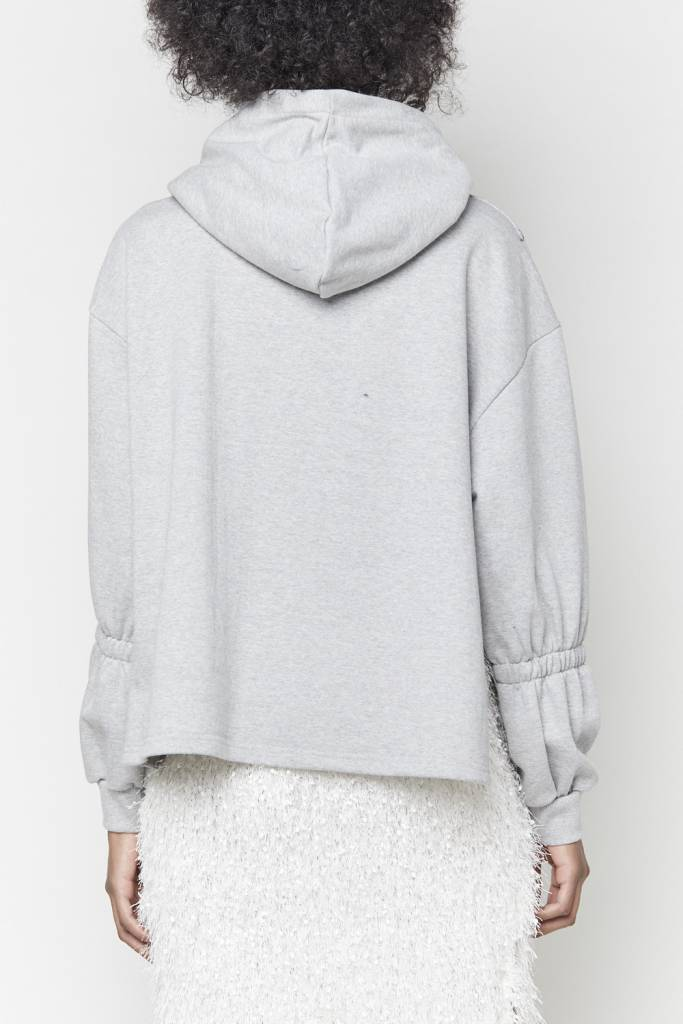 Tarrot Oversized Hooded Grey Sweatshirt