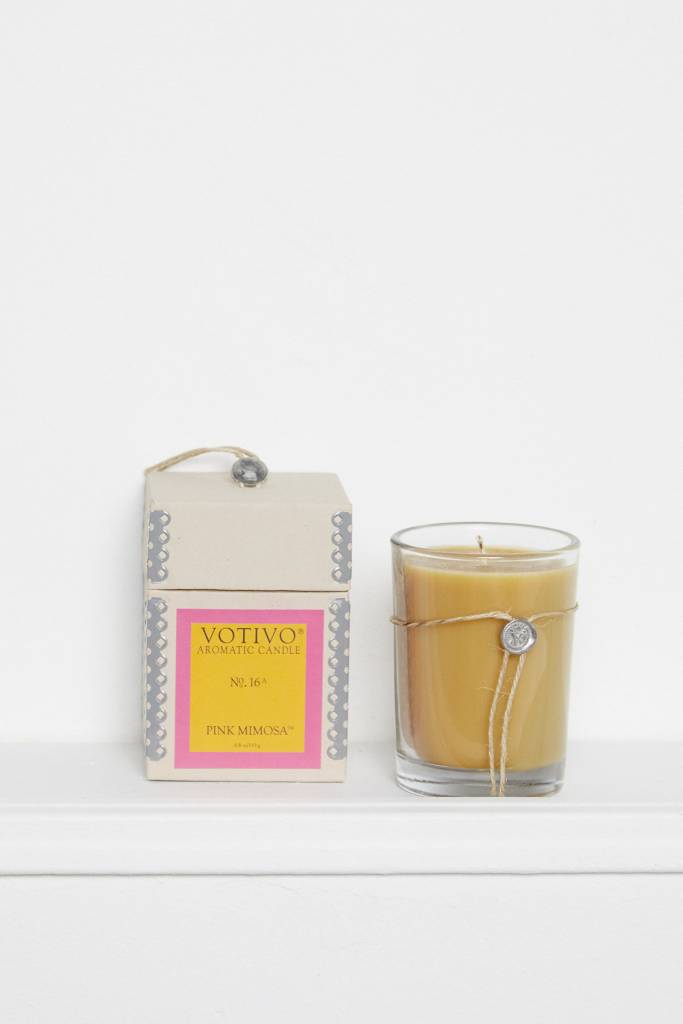 Broder Brothers Votivo Pink Mimosa Candle