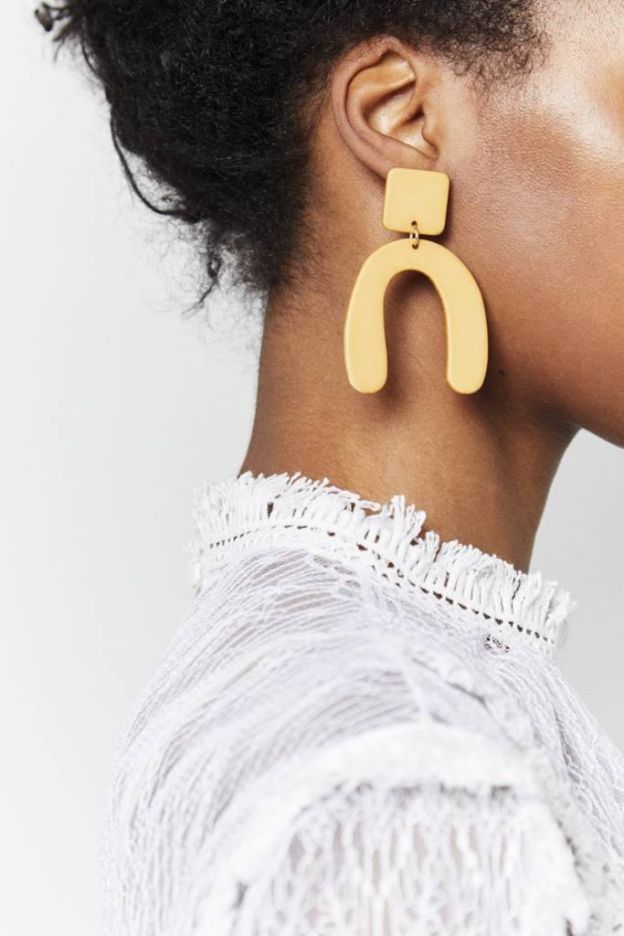 Mustard Drop Earrings