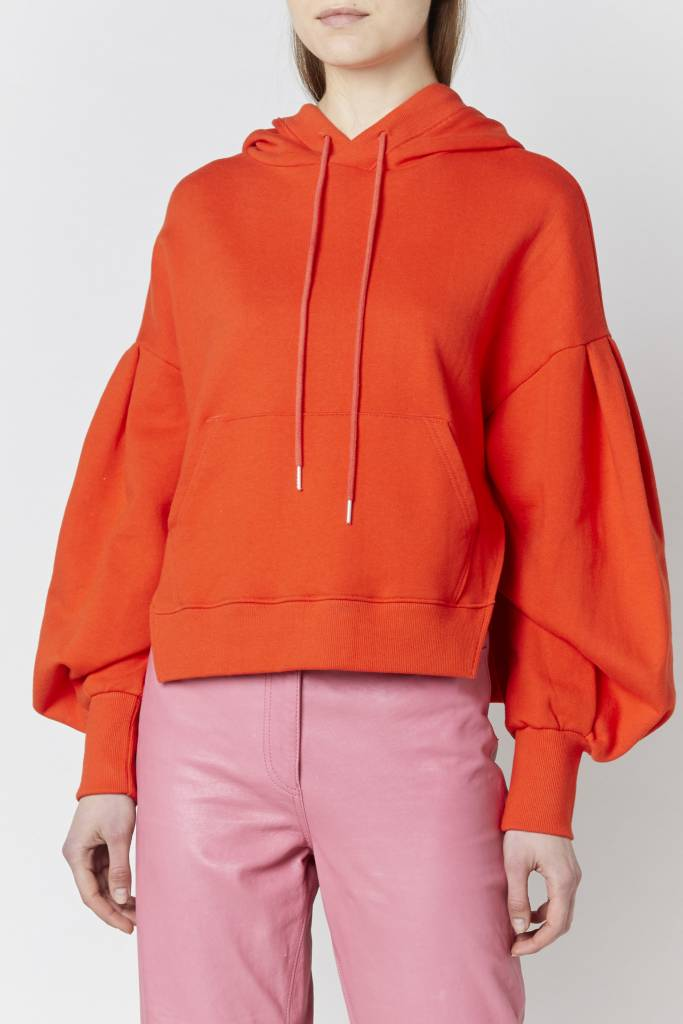 Doreen Effortless Orange Hooded Sweatshirt