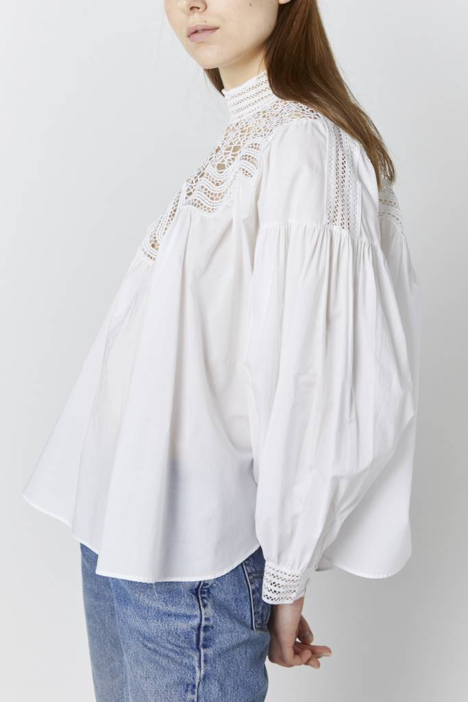 FAV Indira White Lace Blouse