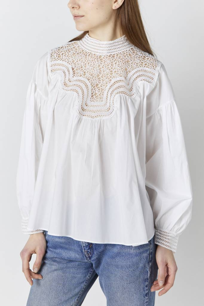 FAV Indira White Lace Blouse